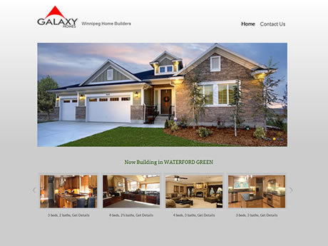 Galaxy Homes Website